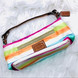 Coach Hampton Stripe Mini Bag